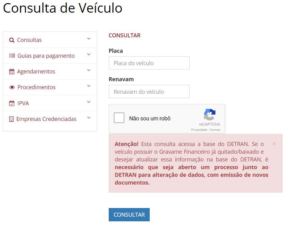 Consulta Licenciamento Alagoas