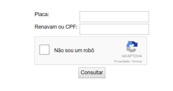 Consulta Licenciamento Rondônia