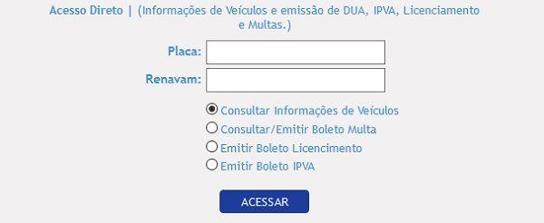 Consulta Licenciamento 2020 Espírito Santo
